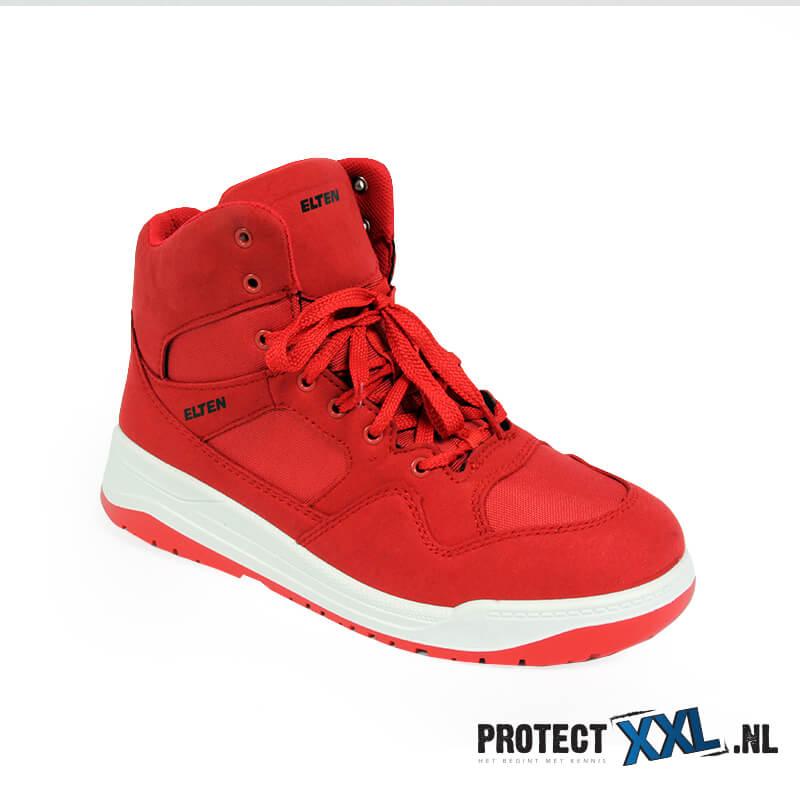 Werkschoenen Sneakers S3.Elten Maverick Red Mid Esd S3 Protectxxl