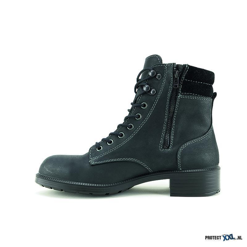 Trendy Werkschoenen.Elten Nikola Black Mid Esd S2 Protectxxl Trendy Laarsje Voor Dames