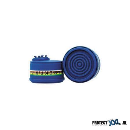 Het Spasciani 2040 combinatiefilter A1B1E1K1-P3 R biedt uitstekende adembescherming tegen fijnstof en nevel op olie- en waterbasis en organische dampen (met kookpunt boven 65ºC). Geschikt voor de Duo en Duetta halfgelaatsmaskers.