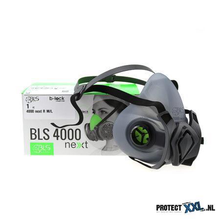 BLS 4000 R halfgelaatsmasker rubber